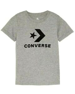Details about New Boys Girls Converse Stacked Graphic Tee T Shirt Grey Size 8 10,12 13 ,13 15Y