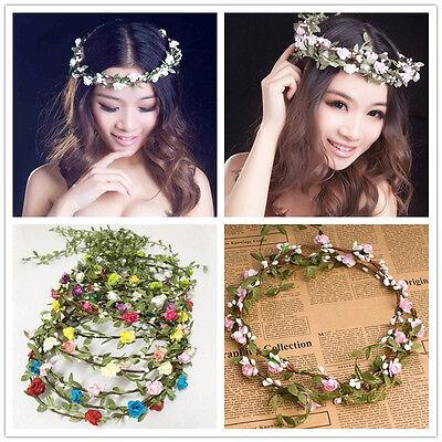 Neu Mode Böhme Blumen Haarband Stirnband Kopfschmuck Strand Hochzeit 10 Farbe