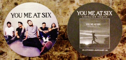 FREE Punk Metal Stickers Lot! YOU ME AT SIX Cavalier Youth Ltd Ed RARE Stickers