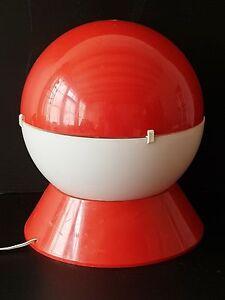 IMPORTANTE-LAMPE-A-POSER-BOULE-PLASTIQUE-1970-SPACE-AGE-POKEMON-VINTAGE-70s