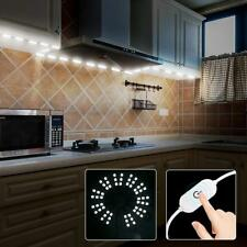 60leds White Under Cabinet Lights Closet Kitchen Counter LED Light+power+dimmer