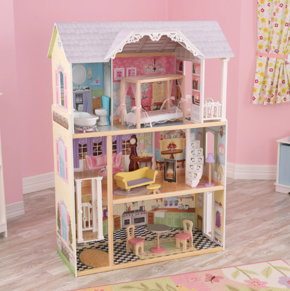 KidKraft Wooden Victorian Kaylee Kids Dollhouse With 10-piece Kit
