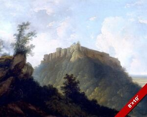 MIGHTY FORTRESS CASTLE ON A FOREST HILL FORT PAINTING ART