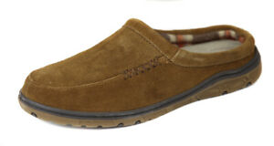 Rockport-Men-039-s-Cinnamon-Suede-Padded-Plaid-Line-Clogs-Slippers-Shoes-Ret-75-New