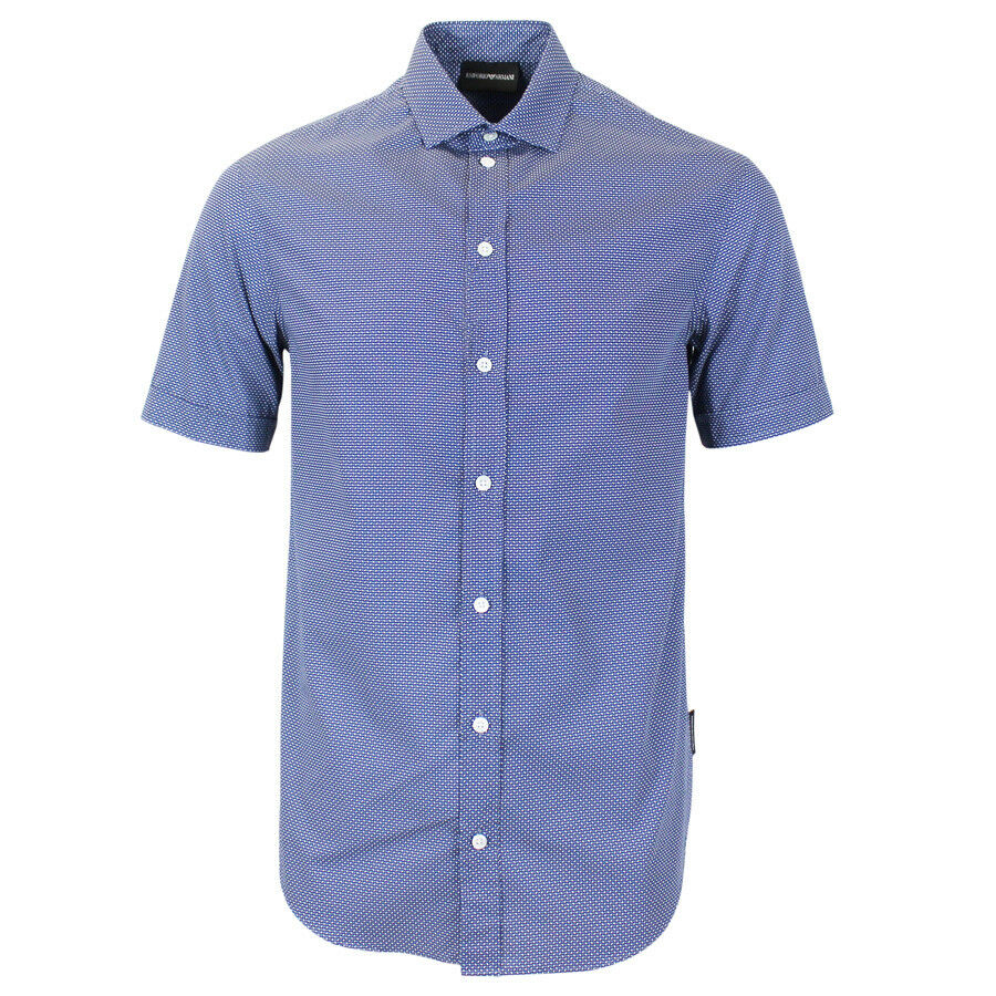 Emporio Armani bluee Short Sleeve Shirt SMALL NEW WITH TAGS RRP