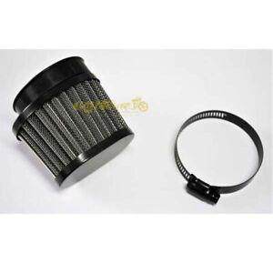 Filtro-aria-nero-ovale-52-56mm-per-trasformazioni-custom-cafe-racer-bobber-guzzi