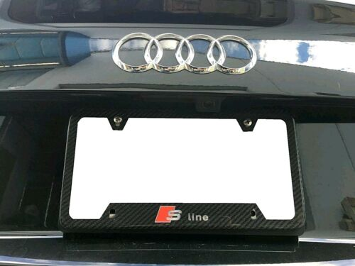 Colored Real Carbon Fiber License Plate Frame S LINE Audi S3 S4 S5 S6 S7 S8 A5