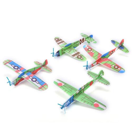 12X//Set Foam Glider Prop Flying Gliders Plane Aeroplane Children DIY Toys HICA