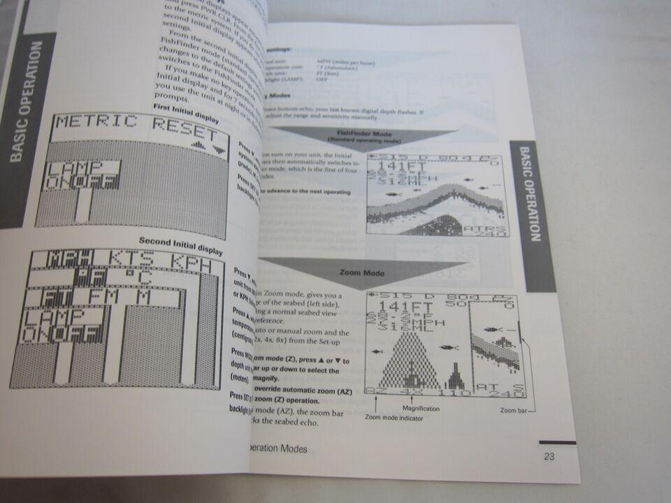 Apelco manual til ekkolod.  Instruktions manual...