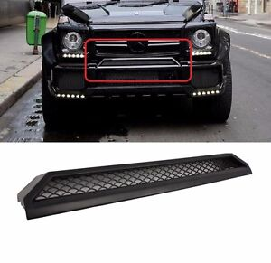 Mercedes benz w463 g class g63 front upper scoop b style for Mercedes benz g500 parts accessories