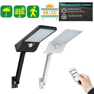 Solar-Light-PIR-Motion-Sensor-Remote-Control-IP65-48LED-800-LM-Garden-Wall-Lamps