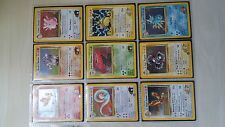 Pokemon Gym Heroes set complete 132 cards including some 1st edition