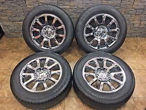 20 20 inch chrome oem gmc denali wheels continental cross contact lx20 tires ebay. Black Bedroom Furniture Sets. Home Design Ideas