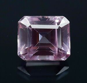 8.00 Ct Natural Padparadscha Sapphire Emerald Cut Certified AAA+ Loose Gemstone