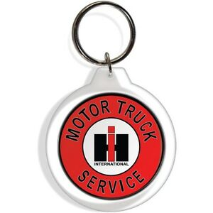 International Harvester Ih Farm Tractor Fob Keychain Key Ring Keyring Hook