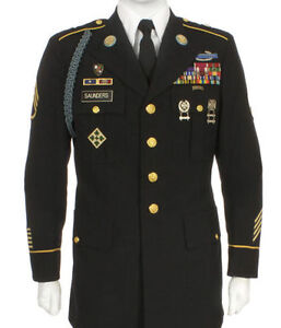 Mens ARMY ASU SERVICE UNIFORM DEROSSI DLA Enlisted 36SC ...