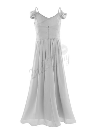 Chiffon Girl Dress Flower Party Formal Wedding Bridesmaid Pageant Prom Gown Kids