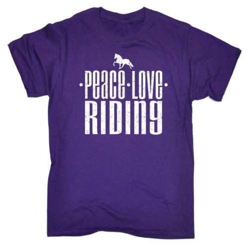 PEACE Love Equitazione T-Shirt Cavallo Pony Accessori Abbigliamento Divertente Regalo Di Compleanno
