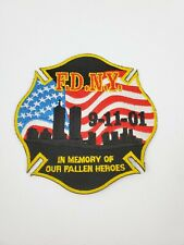 """AMERICA/'S HEROES UNITED WE STAND 11 3//4/"""" Embroidered 911 Memorial Patch"""