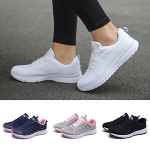 Fashion-Women-Mesh-Round-Toe-Flat-Sneakers-Running-Sport-Athletic-Casual-Shoes