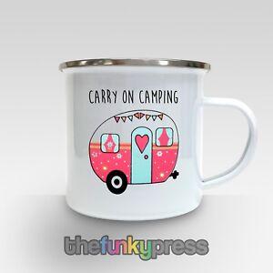 Cadeau Camping Anniversaire Sur Café Transport Détails Émail Slogan Tasse De Caravane Thé lKJcTF1