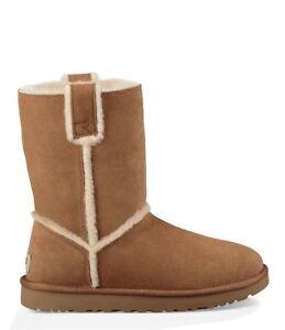 e119cff6210 Details about Ugg Boots Chestnut Tan Classic Short Boots Spill Seam Design  RRP £165.00