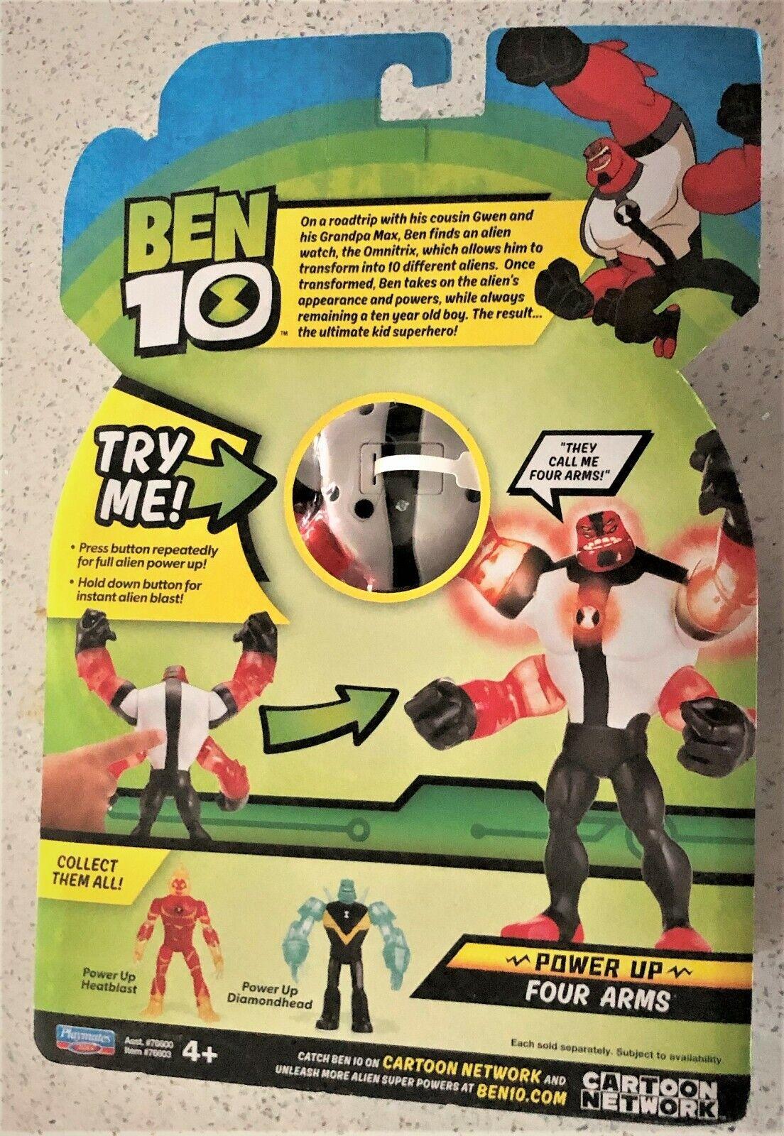 """Ben 10 Deluxe Power Up Figures 6/"""" Heatblast"""