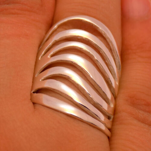Fabulous Gorgeous Massive Solid 925 Sterling Silver Stunning Stylish Long Ring