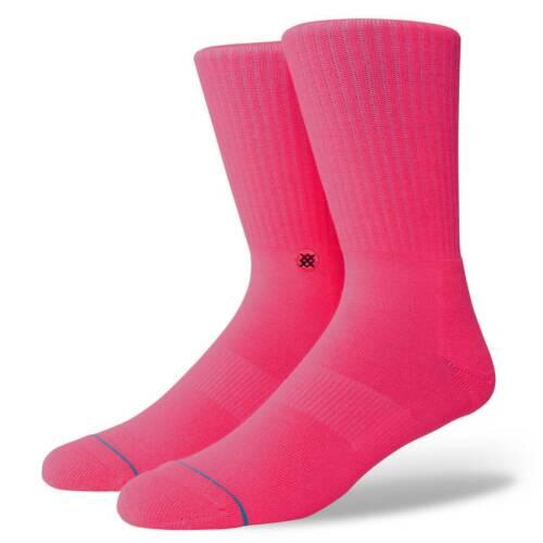STANCE SOCKS NEW Men/'s Icon Anthem Socks Florescent Pink BNWT