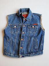 Denim Jean Jacket Vest Biker Trucker Blue S / XS