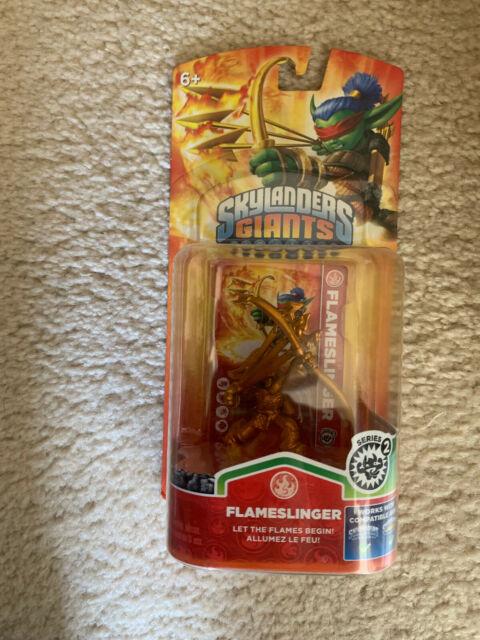 Skylanders Giants Gold Flameslinger Series 2 Exclusive Figure non-Comme neuf Paquet
