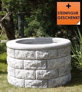 Brunnenschacht brunnen gartenbrunnen steinbrunnen set 4 1 blackform ebay - Gartenbrunnen set stein ...