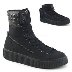 Demonia SNEEKER-270 Men's Black Canvas Goth Skater Creeper Converse Sneakers