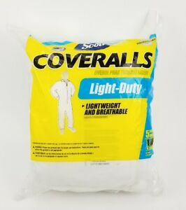 Pack-of-5-Light-Duty-Coverall-Disposable-Kimberly-Clark-Scott-Fabric-XLarge-New