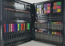 Art Set Deluxe Painting Case Color Pencils Oil Kids Drawing Wood Artist