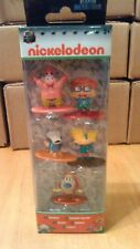 Nano Metalfigs Nickelodeon Pack a Die-cast Collectible Toy 5 Figures 90s Cartoon