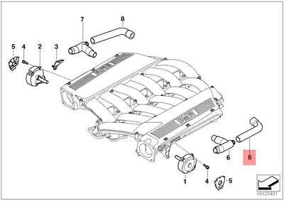 Genuine BMW E28 E30 Coupe Sedan Crankcase Ventilation Hose OEM 11151284611