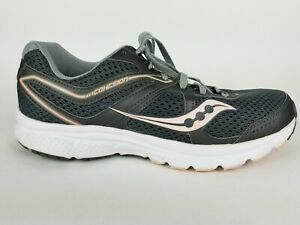 a95e27334 Image is loading Saucony-Cohesion-11-Gray-Mesh-Road-Running-Athletic-
