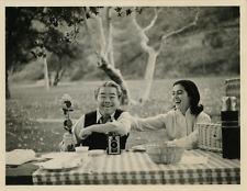 Marisa Pavan et James Wong  Vintage silver print,Marisa Pavan née Maria Luisa