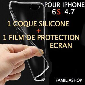 Housse-etui-pochette-coque-transparent-souple-gel-silicone-iphone-6S-4-7-film
