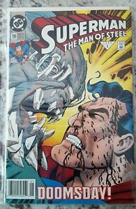 1992-Superman-The-Man-Of-Steel-19-NM-Doomsday-First-Print-News-Stand