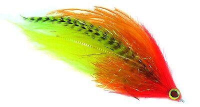 Mutator Minnow Fly Pattern Olive//White 406Flies Bass // Pike // Musky