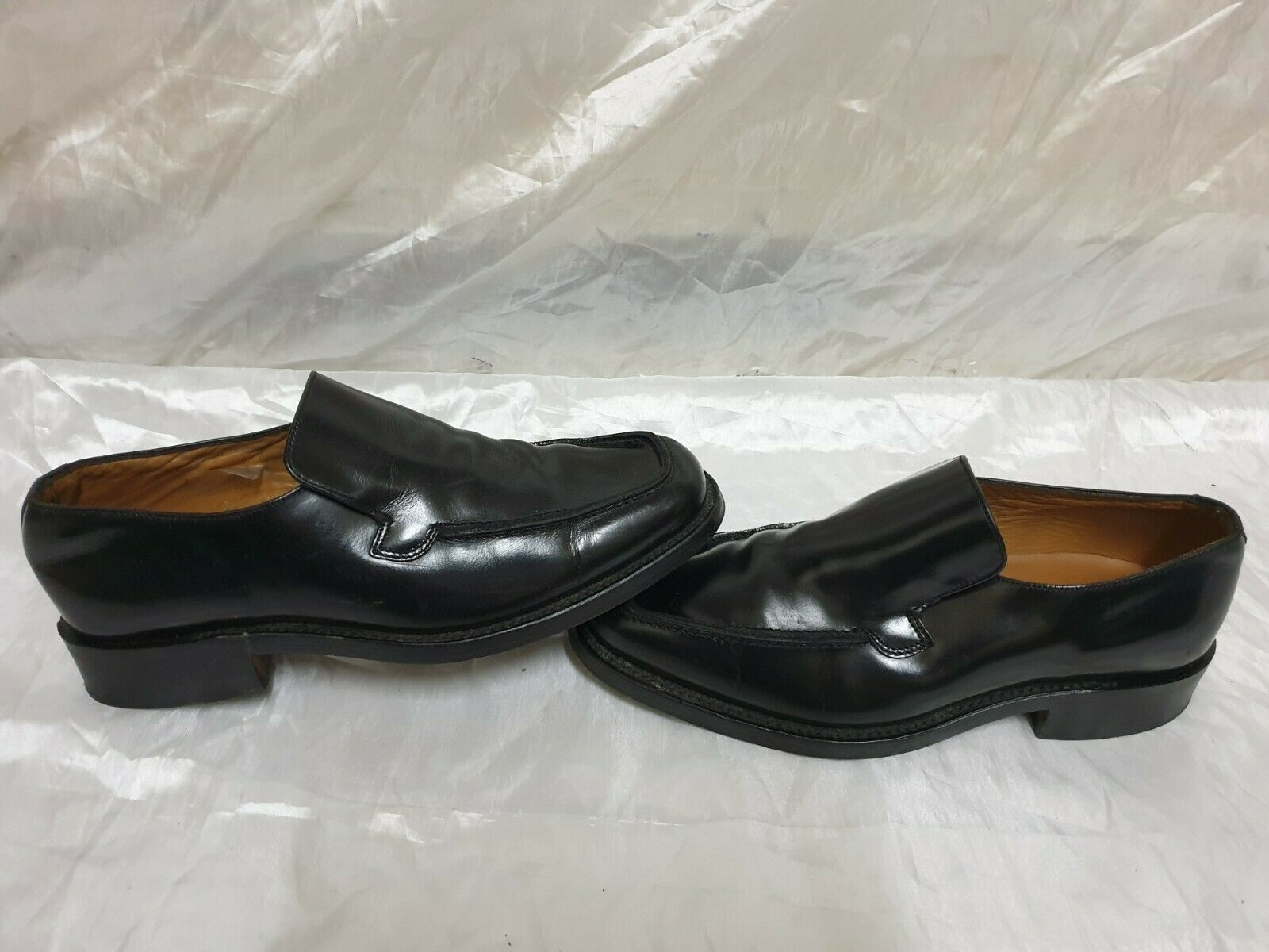 loake goodyear welted mens black shoes size uk 6.5 / eu 39.5 made in england