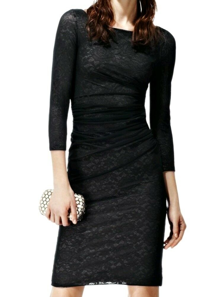 Designer REISS Fernanda lace overlay dress Größe 12 --NEW WITH TAGS-- knee length