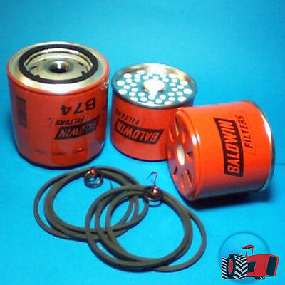 FLK3507 Oil Fuel Filter Kit Ford 2000 3000 Tractor & 4000 5000 w 95mm Spin-On LF