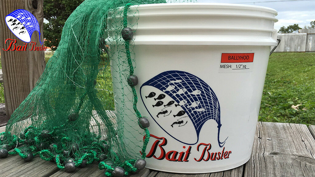Bait  Buster Bait Cast Nets (1 2  Sq Mesh) Free Speedy Shipping From Florida  welcome to order