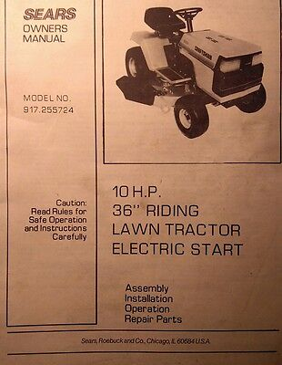 Sears Craftsman 10 h.p Lawn Tractor & 36