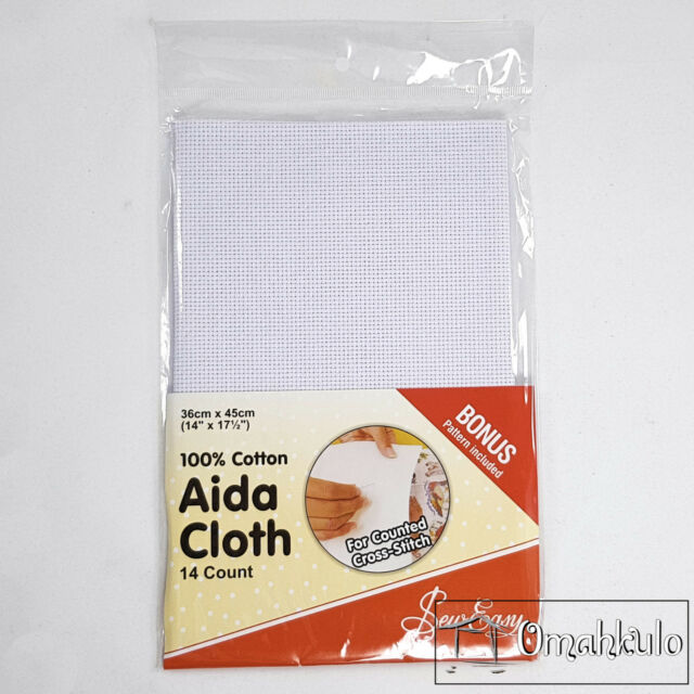 RTO Aida 14 Count Fabric Yellow 39 x 45 cm