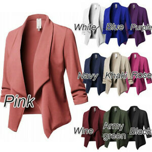 Women-Long-Sleeve-Slim-Fit-Blazer-Suit-Coat-Casual-OL-Work-Jacket-Formal-Outwear