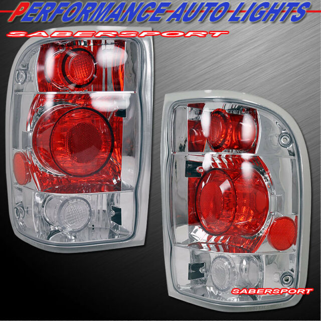 Set Of Pair Chrome Altezza Style Taillights For 1998 1999 Ford Ranger